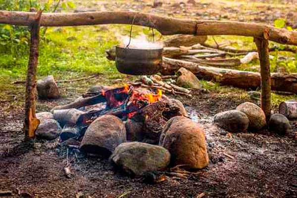 Quiero hacer fuego para cocinar