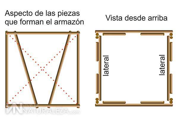 como construir un escondite o hide casero de madera para fotografia