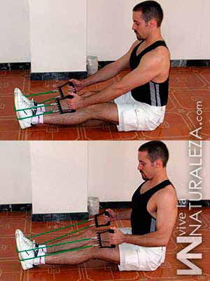 Ejercicio de espalda con tensores
