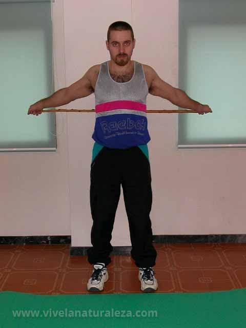 Ejercicio de flexibilidad para brazos