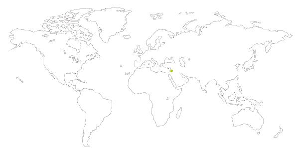 Mapa de distribucion del hamster dorado o hamster sirio, Mesocricetus auratus