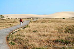 La gran duna móvil de Corrubedo es un espectáculo natural único en Galicia.