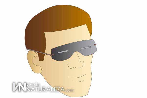 Ilustración que muestra como protegerse del sol con unas gafas de corteza de abedul