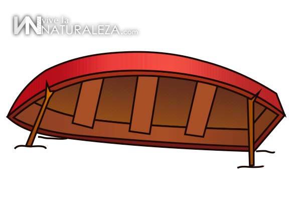 Refugio de supervivencia con una barca