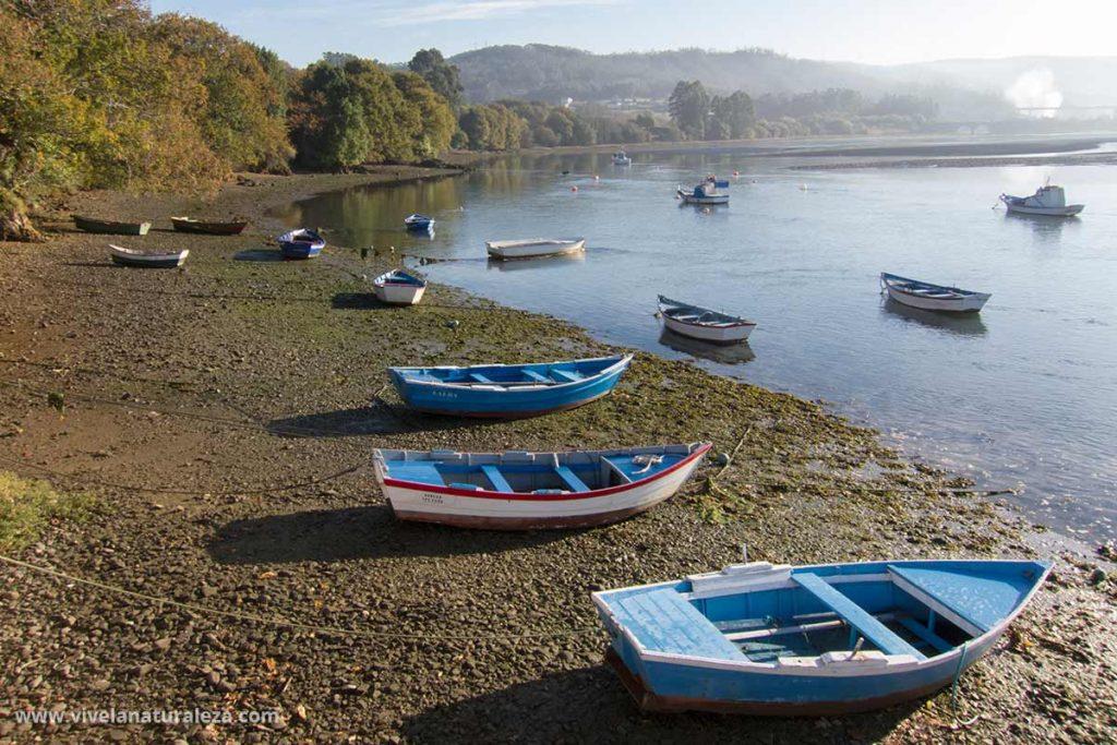 Vista del Embarcadero de ladrido en la ria de Ortigueira